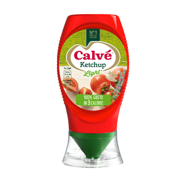 [Ketchup Light Calvé | Ingredienti Naturali e 40% di Zuccheri in Meno]